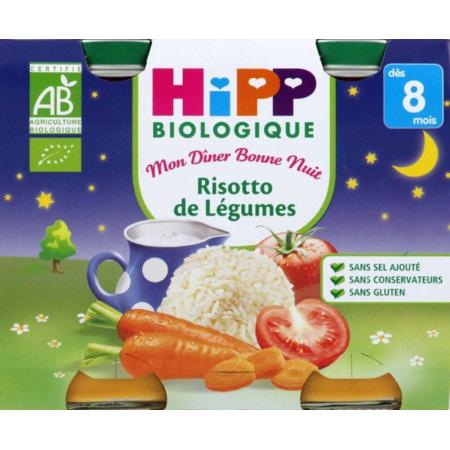Menu Bonne Nuit Risotto de Légumes - 2 pots x 190g - 8 mois 1