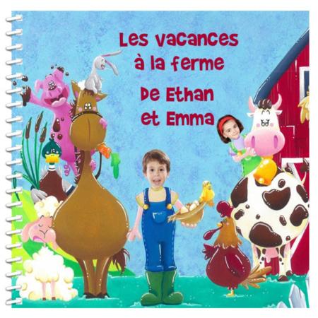 Livre personnalisé pour enfant et sa famille : Vacances à la ferme MON LIVRE PERSONNALISABLE 1