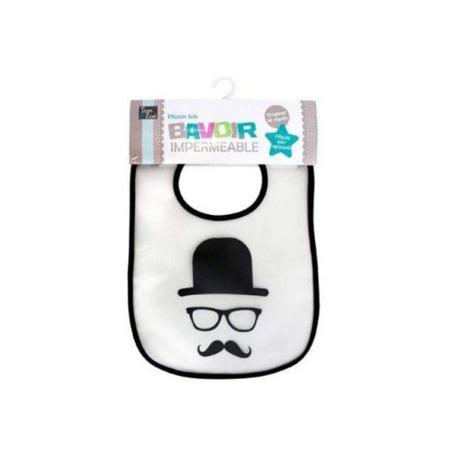 Bavoir imperméable Moustache 1