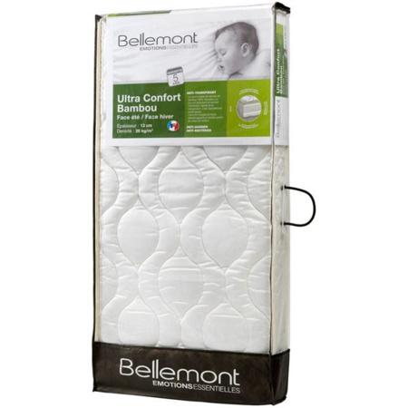 Matelas Bébé ultra confort bambou climatisé BELLEMONT 1
