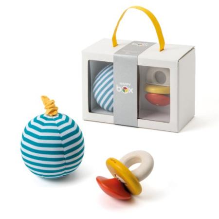 Coffret de naissance hochet et balle vibrante - Happy Box OXYBUL 1