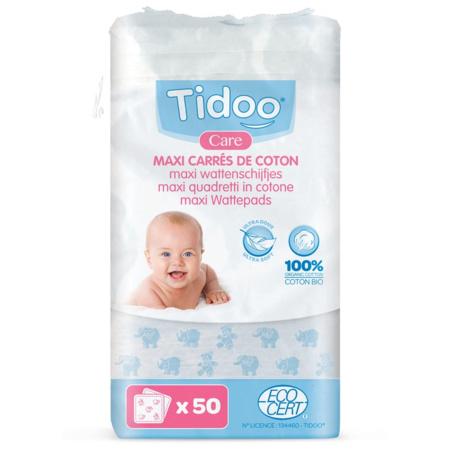 Maxi Carrés en coton bio TIDOO 1