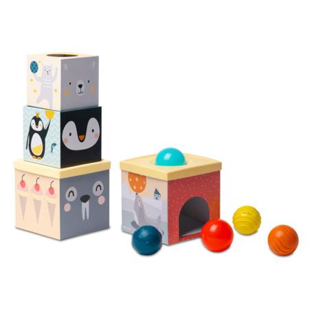 Cubes gigognes et 5 balles TAF TOYS 1