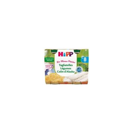 Tagliatelles Légumes Colin d'Alaska- 2 pots x 190g - 8 mois HIPP 1