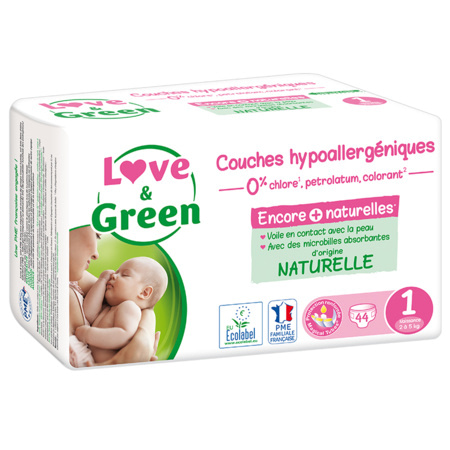 Couches Hypoallergéniques LOVE AND GREEN 7