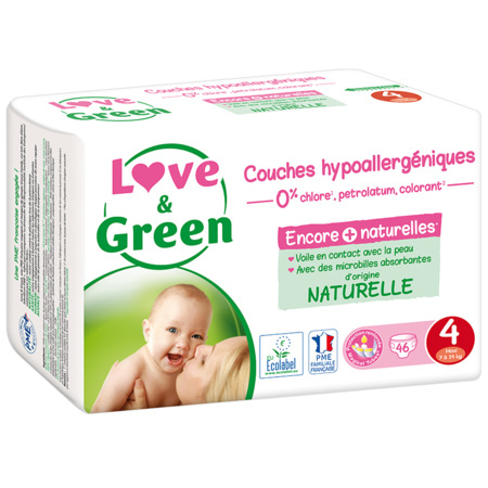 Couches Hypoallergéniques LOVE AND GREEN 4