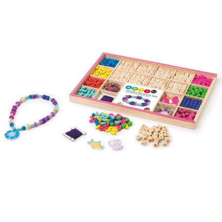 Coffret 200 perles en bois 1