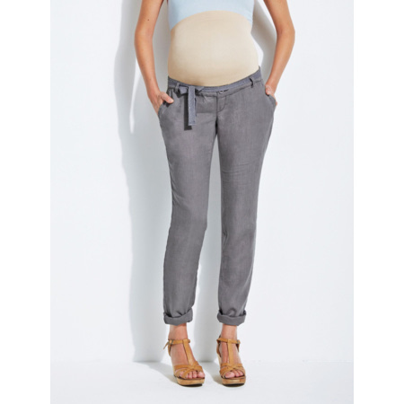 Pantalon en lin de grossesse Colline VERTBAUDET 1