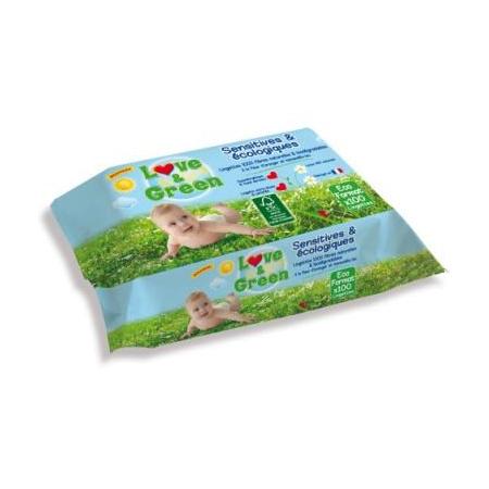 Lingettes sensitives écologiques LOVE AND GREEN 1