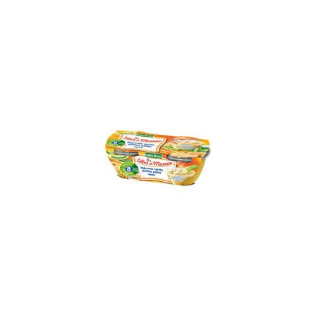 LES IDEES DE MAMAN Légumes varies petites pâtes veau 2x200 g dès 6 mois 1