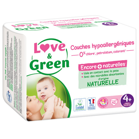 Couches Hypoallergéniques LOVE AND GREEN 3