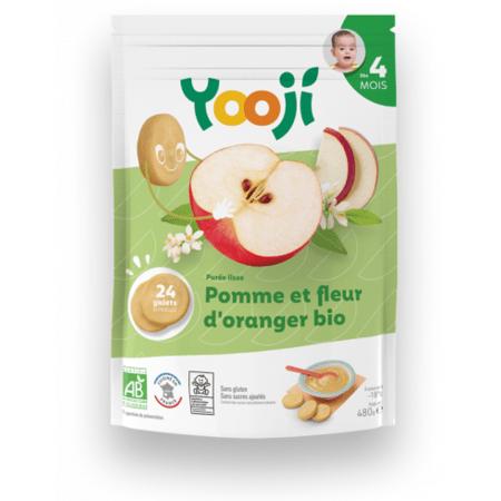 Purée lisse de pomme et fleur d'oranger Bio YOOJI 1