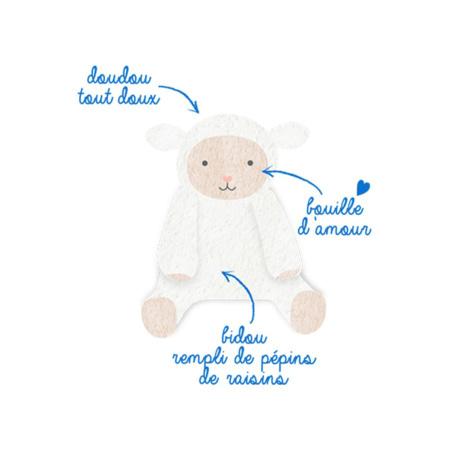 Bouillotte Peluche aux Pépins de Raisin +6mois DODIE 5
