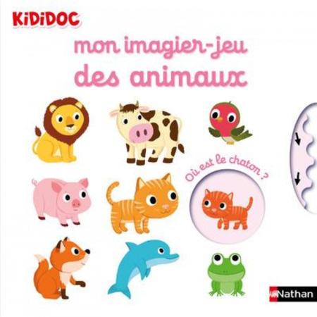 Livre Mon imagier Jeu des animaux - Kididoc NATHAN 1