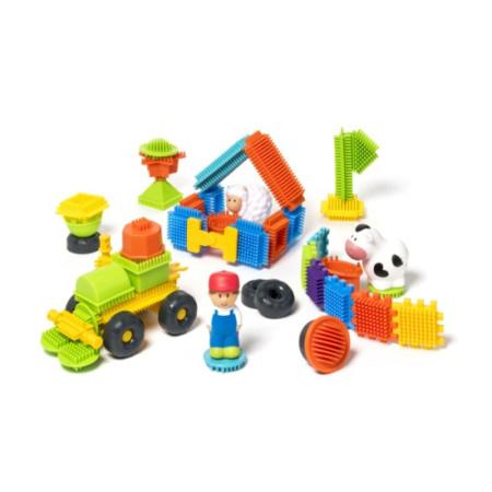82 blocks à construire et 3 figurines ferme - Buildibul OXYBUL 1