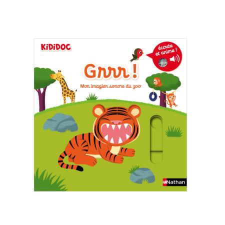 Livre Grrr ! Mon imagier sonore du zoo - Kididoc NATHAN 1