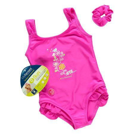 Maillot de bain fille UV sensible - 2 ans 1