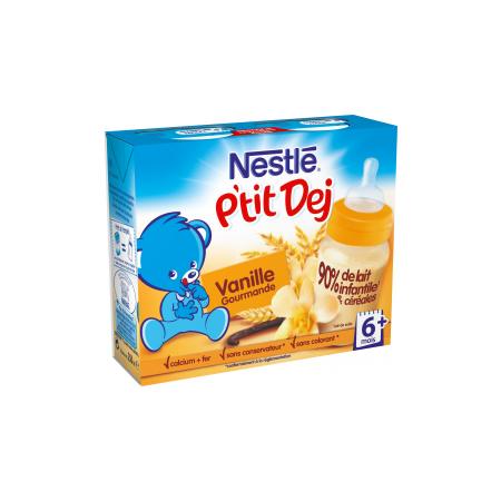 Nestlé P'tit Dej - Brique lait & céréales vanille gourmande NESTLÉ 1