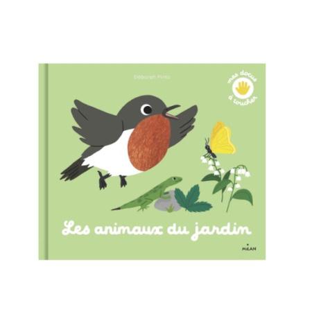 Livre Mes animaux du jardin à toucher MILAN 1