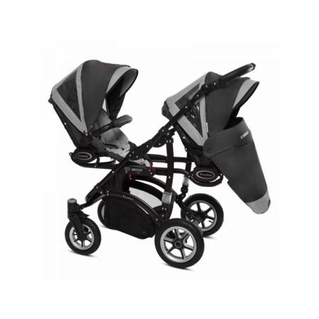 Poussette Trio Twinni Premium + 2 nacelles + 2 sièges auto Silver 2