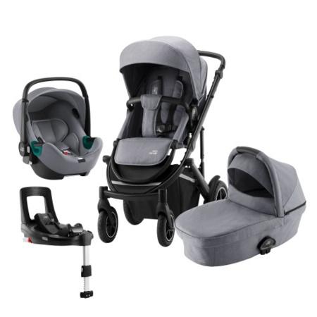 Poussette  Smile III + nacelle + coque Baby Safe iSense + base Flex iSense BRITAX ROMER 1