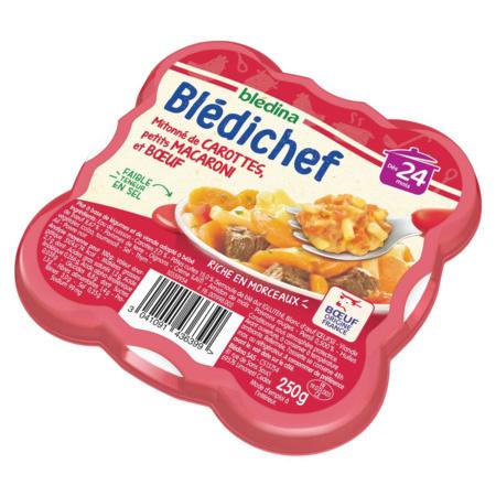 BLEDICHEF Mitonné de carottes, petits macaroni et boeuf BLEDINA 2