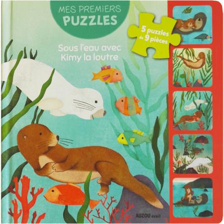 Livre puzzle Kimy la loutre EDITIONS AUZOU 1