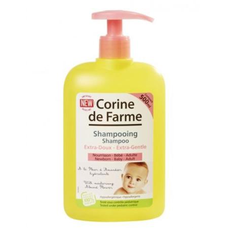 Shampooing Extra-doux à l'extrait de fleur d'amandier hydratant CORINE DE FARME 1