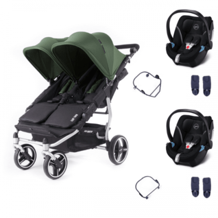 Poussette double Easy Twin 3S Light + 2 coques Cybex Aton 5 BABY MONSTERS 1