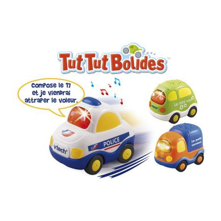 Voitures tut tut bolides (police + van + camion) VTECH 1