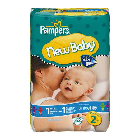 Couches New Baby PAMPERS 4