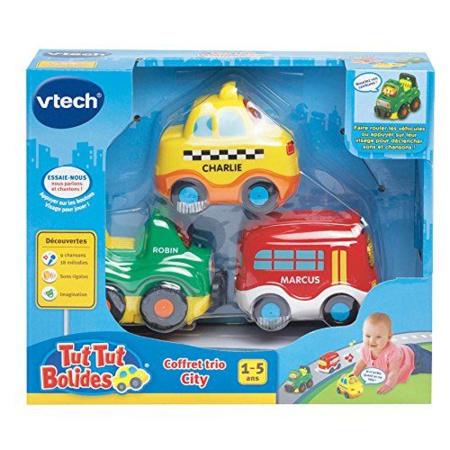 Coffret Trio City Tut Tut Bolides - Taxi + Bus + 4 X 4 VTECH 1