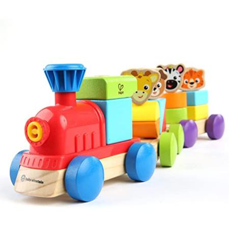 Petit train en bois découverte des animaux - E11715 Baby Einstein HAPE 1