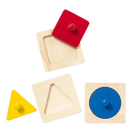 Trio de puzzles à encastrer Ateliers Montessori OXYBUL 2
