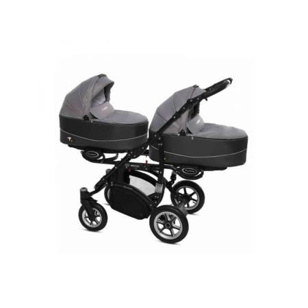 Poussette Trio Twinni Premium + 2 nacelles + 2 sièges auto Silver 3