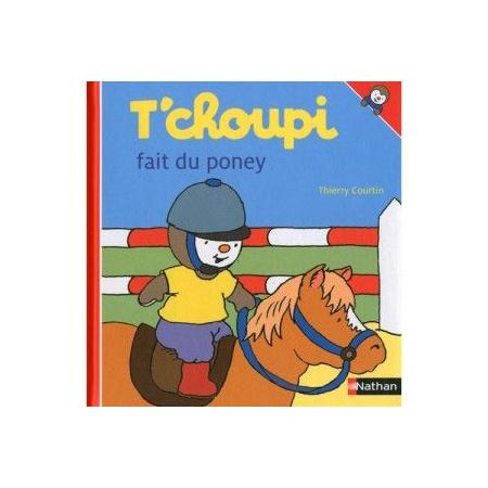 Livre T'choupi fait du poney 1