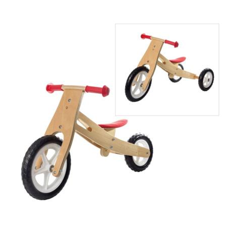 Tricycle 2 en 1 en bois 1