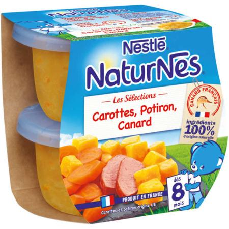 Naturnes- Petits Pots Bébé Carottes, Potiron, Canard NESTLÉ 1