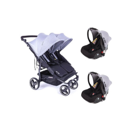 Duo Poussette Double  Easy Twin 3S Light  + 2 Coques Auto Luna BABY MONSTERS 1