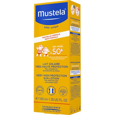 Lait solaire très haute protection SPF 50+ MUSTELA 2