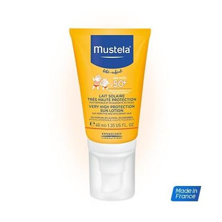 Lait solaire très haute protection spécial visage MUSTELA 1