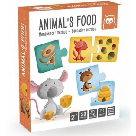 Puzzle Montessori - Animal's Food EUREKAKIDS 1