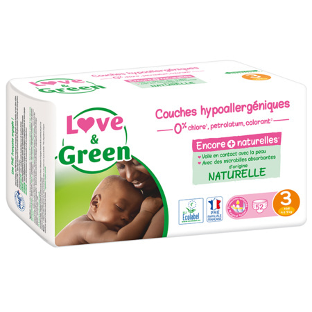 Couches Hypoallergéniques LOVE AND GREEN 5