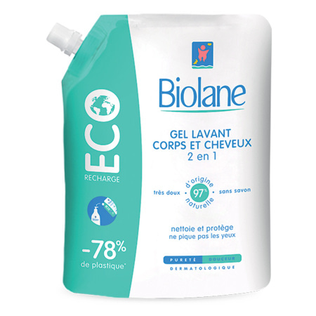 Gel lavant corps et cheveux (Eco-recharge) BIOLANE 1