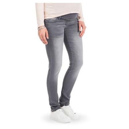 Jeans coupe slim de grossesse effet used 1