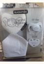 avis Set Doudou + Sucette + Attache-sucette Collection White par Amandine