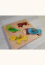 avis Encastrement puzzle 4 pièces en bois couleur par Marion