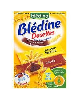 Blédine 12 Dosettes individuelles vanille/cacao