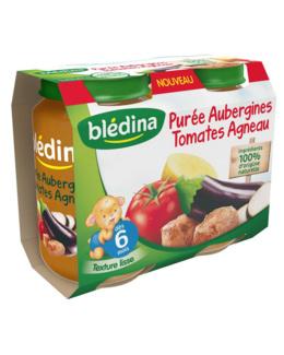 Pot Purée Aubergine Tomates Agneau 2x200g