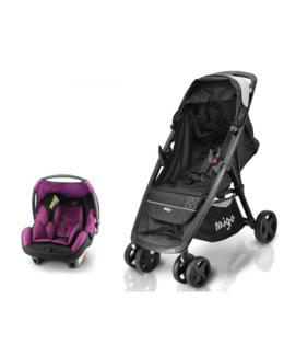 Poussette duo combinée Clark + siège auto Beone Safety Baby